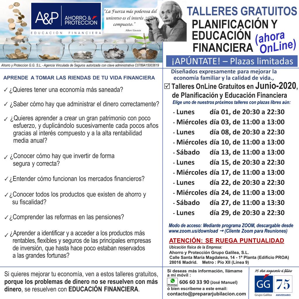 Preparar Jubilación - Talleres Gratuitos de Educación Financiera - Junio de 2020